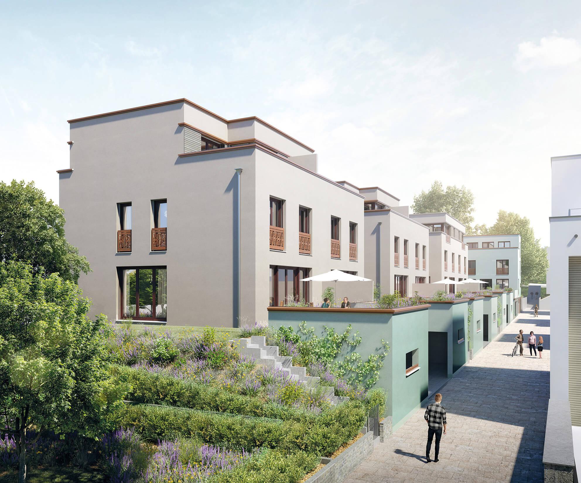 Doppelhaus WEG Typ I und II, Visualisierung