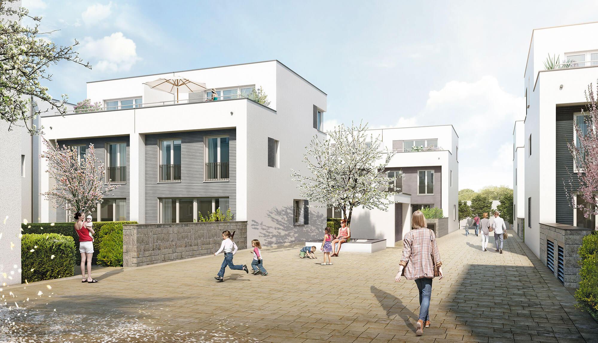 Gartenstadthäuser Visualisierung